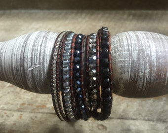 Marguerite Beaded Wrap Bracelet