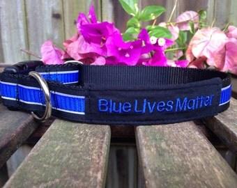 Thin Blue Line Dog Collar
