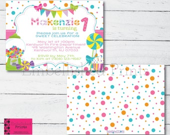 Candy land Inspired Party Invitation