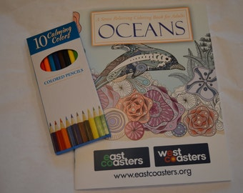 East Coasters Stress Relief Coloring Book - Oceans