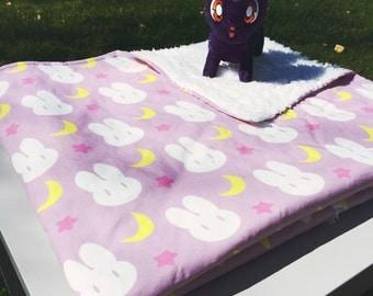 Sailor Moon Bunny Spoonflower Designer Crib Blanket  *Print on Demand Designer Fabric*