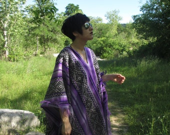 New Poncho Purple Andes Rain forest Collection