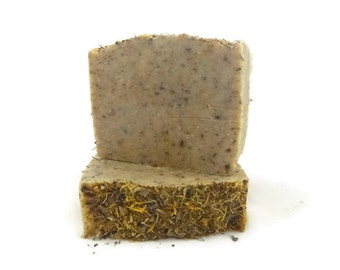 Marigold + Henna soap, super conditioning soap, handmade soap, marigold soap, henna soap, face and body soap, soap, moisturizing soap