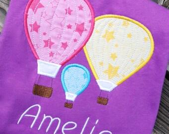 Hot Air Balloon Shirt, Hot Air Balloon Onesie, Hot Air Balloon Birthday Shirt