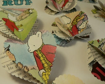 Rupert the Bear - Heart Garland
