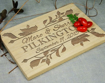 Beautiful Personalized Laser Engraved Cutting Board, Any Occasion Gift: Housewarming, Birthday, Wedding, Anniversary, Retirement,  Holiday!