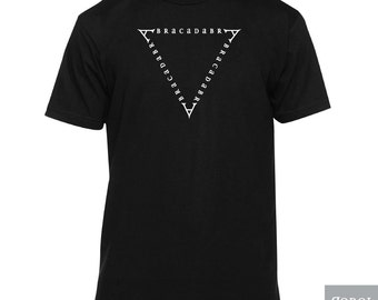 Abracadabra Magician's Shirt (magic shirt, occult shirt, magician clothes, avracadavra, american made shirt)