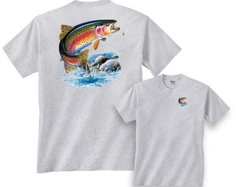Rainbow Trout Going for Lure Freshwater Fishing T-Shirt