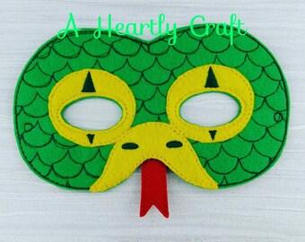Slithering Snake Felt Mask for Dress Up Pretend Play Halloween Party Favor