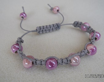 Beach Festival Ceramic Macrame Braided Bracelet