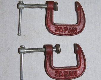 Vintage 1950's - Japan - Iron Clamp - Set of 2