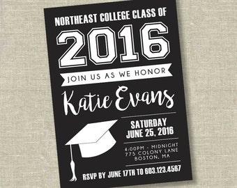 abschluss-einladung college-abschluss-einladung high school, Einladungen