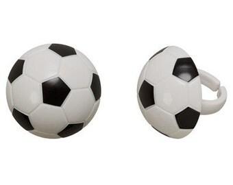 3-D SOCCER BALL Cupcake Rings