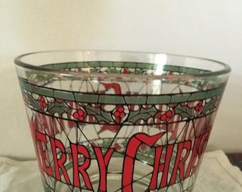 Christmas ice bowl merry Christmas