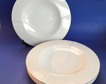 Set of 4 England James Martin Denby White Dinner Plates