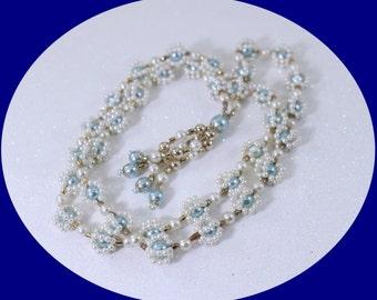 Vinatge Faux Pearls Necklace Pearl Necklace Vintage Jewelry Wedding Necklace Vintage Wedding Necklace Briades