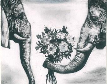 Elephant valentines (Print)