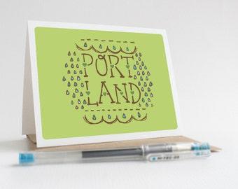 Portland Raindrops - Greeting Card