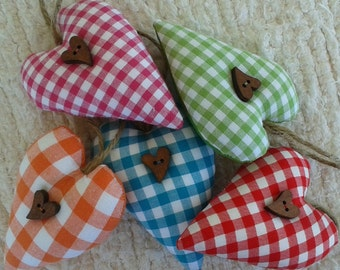 Handmade Vichy Hearts