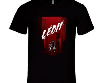 Leon Professional Hitman Natalie Portman Luc Besson Movie Poster  T Shirt