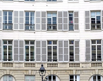 Paris Photography, Fine Art Print, French Wall Decor, Architecture Art, Parisian Windows, Paris Decor, Wall Art, 8 x 10 Photo, 11 x 14 Print