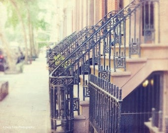 NYC Photography, New York Print, Greenwich Village, New York City, Wall Art, Home Decor, Door Steps, Manhattan Photo, 8 x 10, 11 x 14 Print