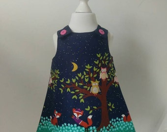 Midnight Fox Pinafore Dress