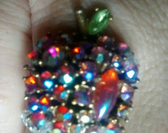 Beautiful bling apple ring