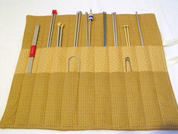 Knitting Needle Storage Roll : Knitting needle case roll storage