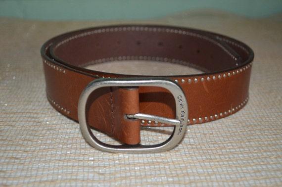 Belt Brown Calvin Klein, Brown Belt