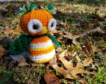 Amigurumi Crochet Pumpkin Owl