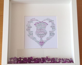 Heart Shaped Thistle Print