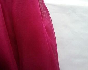 Fushcia Pink Organza fabric by the yard wedding party crafts tutu