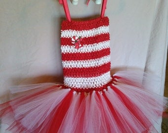 Candy Cane Tutu dress| Holiday tutu dress| Candy Cane Tutu | Christmas tutu dress