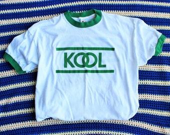 80s Vtg KOOL/Graphics on Front and Back/Fits Like: M/L- Large