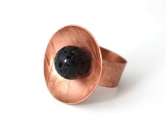 copper and lava ring