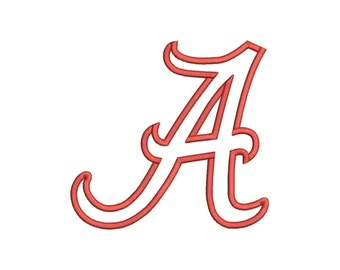 Alabama Football Applique Designs Machine Applique Embroidery Designs 5 Size - INSTANT DOWNLOAD