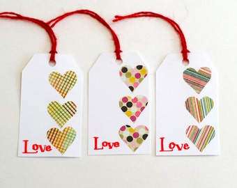 Valentines Day Tags, Love Tags, Gift Tags, Favor Tags, Calligraphy, handwriting tags, Valentines