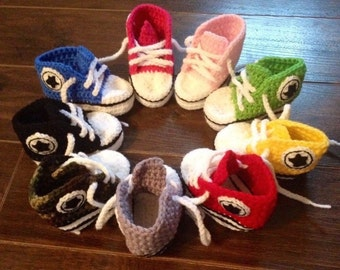 2 pairs of baby sneakers 0-6 months / sneaker for baby to hook 2 pairs 0-6 months to choose