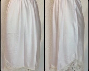 Christian Dior Petal Pink Half Slip with Lace Hem - Size 25
