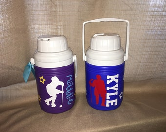 Personalized Sports Hockey Water Jug Cooler- 1.3 Quart