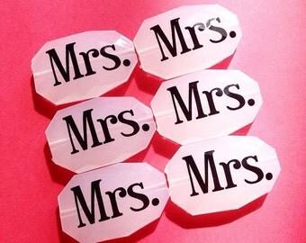 Mrs. Engagement or Honeymoon Bangle Beads on white - jewelry making, bangle bracelet, gift, handmade beads