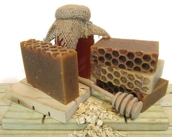 Honey Drippin' Times - Honey, Oats, & Beeswax Soap - Unscented