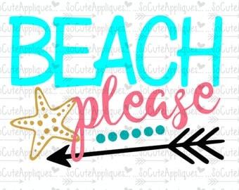 Beach please, nautical svg, cruise svg, socuteappliques, silhouette cut file, SvG Sayings, beach svg, sun