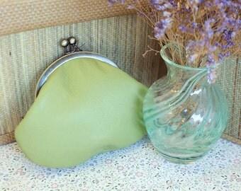 Apple Green Leather Purse
