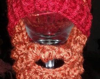 Crocheted Bearded Beanie Hat