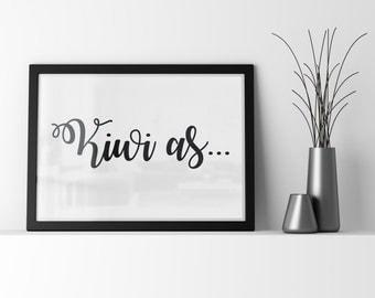 Kiwi as... Digital art Printable