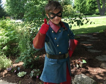 Superhero costume black mask and custom gloves, Bucky Barnes, custom accessories