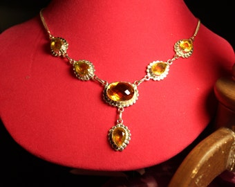 Honey Citrine Yellow Citrine New 925 Sterling Silver Chain Necklace 19
