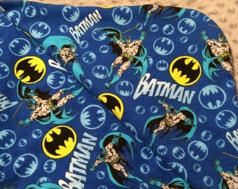 Batman Baby Blanket, Minky Baby Blanket, DC Comics Baby Blanket, Baby Boy Blanket, Stroller Blanket, Batman Blanket, Nursery Blanket